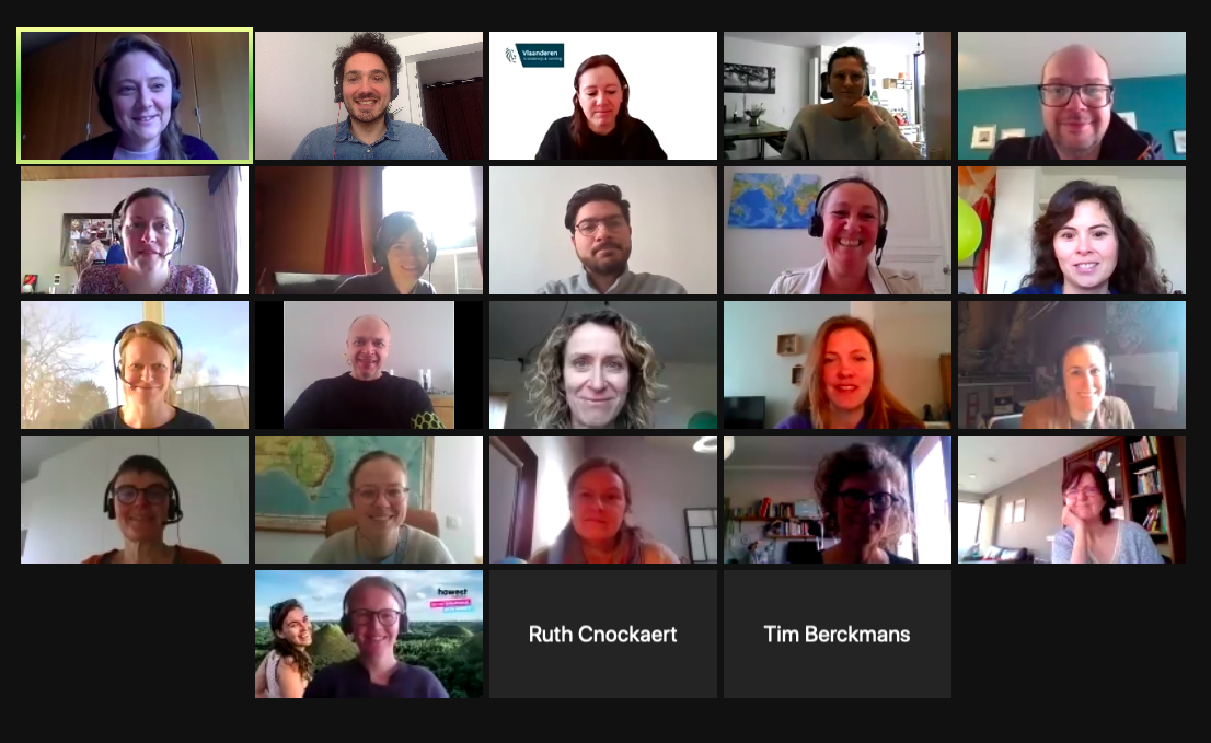 Screenshot of the meeting videocall.