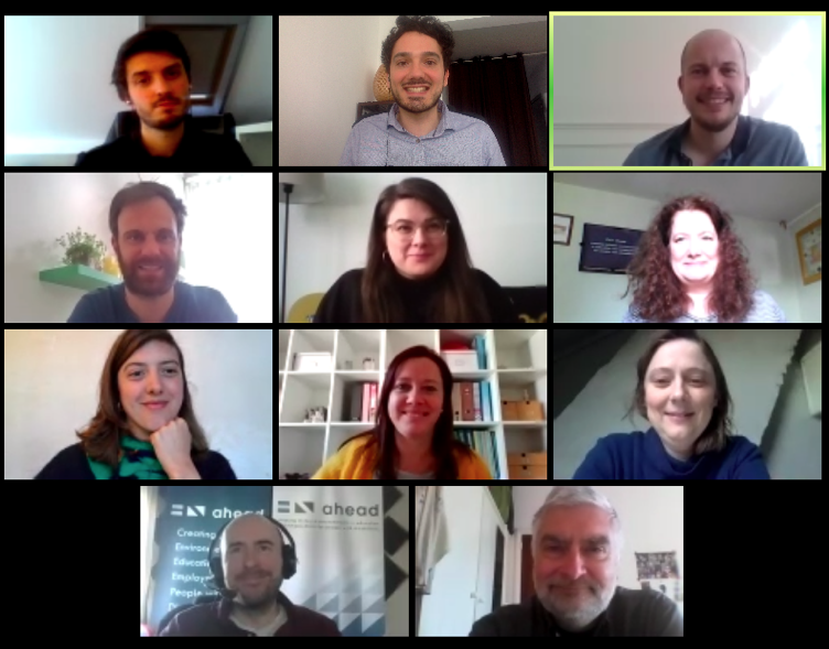 Screenshot of the videoconference with the participants of the meeting.